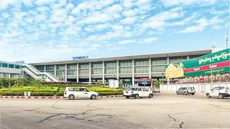 Sân bay quốc tế ở Yangon tạm đóng cửa. Ảnh: Myanmar Times