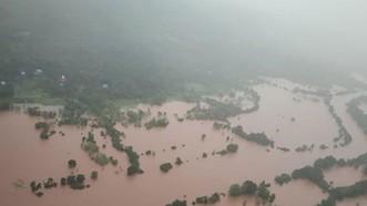 Quang cảnh ngập lụt tại Ratnagiri, bang Maharashtra, Ấn Độ ngày 23-7-2021