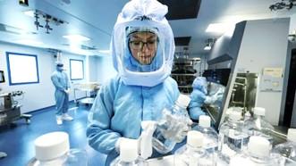 Một phòng thí nghiệm sản xuất vaccine tại BioNTech
