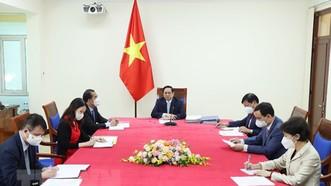 Thủ tướng Phạm Minh Chính phát biểu tại buổi điện đàm. ẢNh: TTXVN