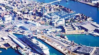 Cảng Southampton, một trong những cảng biển lớn nhất của Anh