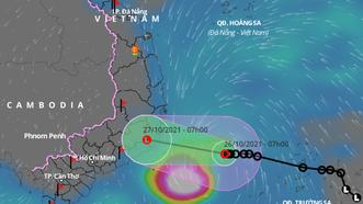 Áp thấp nhiệt đới áp sát vùng biển Khánh Hòa-Ninh Thuận, gió giật cấp 9