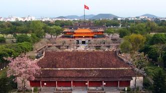 Điện Thái Hòa nằm ở vị trí quan trọng nhất trong Đại nội Huế