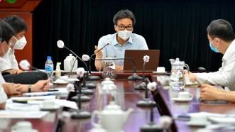 Phó Thủ tướng Vũ Đức Đam phát biểu chỉ đạo tại buổi làm việc với quận Bình Tân, TPHCM