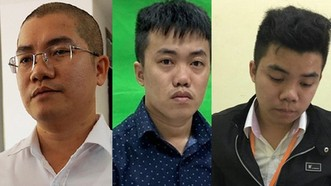 Ba anh em Nguyễn Thái Luyện (trái), Nguyễn Thái Lĩnh và Nguyễn Thái Lực