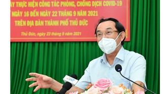 Bí thư Thành ủy TPHCM Nguyễn Văn Nên: TP Thủ Đức cơ bản kiểm soát được dịch bệnh
