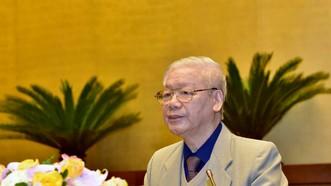 Tổng Bí thư, Chủ tịch nước Nguyễn Phú Trọng phát biểu khai mạc Hội nghị tại đầu cầu Hà Nội