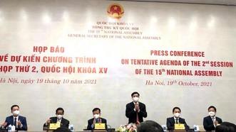 Tổng Thư ký, Chủ nhiệm Văn phòng Quốc hội Bùi Văn Cường chủ trì họp báo
