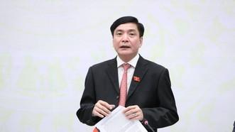 Tổng Thư ký Quốc hội, Chủ nhiệm Văn phòng Quốc hội Bùi Văn Cường phát biểu tại họp báo. Ảnh: QUANG PHÚC