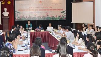 """Hội thảo """"Nữ ứng cử viên đại biểu Quốc hội và việc thúc đẩy bình đẳng giới"""", diễn ra tại TPHCM, sáng 15-4-2021. Ảnh: ĐÌNH LÝ"""