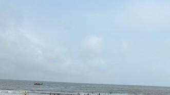 Bãi biển nơi xảy ra sự việc. Ảnh: N.T.