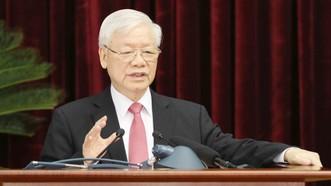 Tổng Bí thư, Chủ tịch nước Nguyễn Phú Trọng  phát biểu khai mạc hội nghị. Ảnh: TTXVN