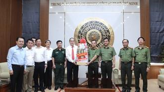Đoàn lãnh đạo TPHCM thăm, chúc tết Công an TPHCM và Quân khu 7