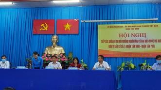 Tổ ứng cử viên đại biểu Quốc hội Khóa XV, đơn vị bầu cử số 5 quận Tân Bình, Tân Phú tiếp xúc với cử tri quận Tân Bình