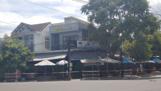 Địa điểm ghi nhận 4 trường hợp mắc Covid-19 tại phường Tân An (TP Hội An, tỉnh Quảng Nam) đã được phong tỏa. Ảnh: NGUYỄN CƯỜNG