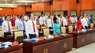 Khai mạc kỳ họp thứ 25, HĐND TPHCM khóa IX. Ảnh: VIỆT DŨNG