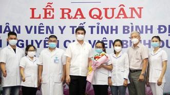 Đoàn y, bác sĩ Bình Định lên đường vào TPHCM, Bình Dương chống dịch