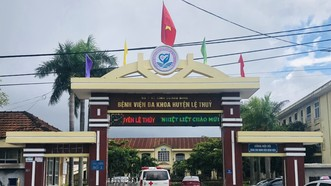 Bệnh viện đa khoa huyện Lệ Thủy. Ảnh: MINH PHONG