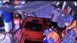Liên tiếp phát hiện tàu vận chuyển dầu không rõ nguồn gốc ở vùng biển Kiên Giang