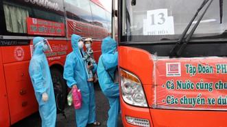 800 người dân Phú Yên được đưa từ Đồng Nai về quê tránh dịch Covid-19