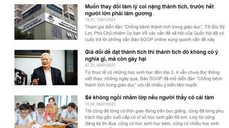 Báo SGGP Online nhận được gần 100 bài viết của bạn đọc trên khắp mọi miền đất nước sau gần 1 tháng mở diễn đàn