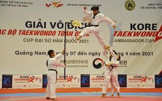 運動員在比賽中展示自創品勢。(圖源:互聯網)