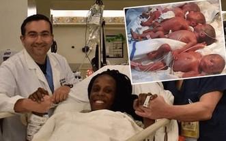 25歲的Halima Cisse 於4日順利開刀誕下9胞胎,9名嬰兒健康狀況良好,堪稱人類奇迹。(圖源:互聯網)