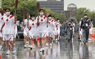 廣島聖火傳遞在緊急事態宣言下啟動