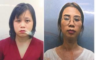 被起訴的兩名嫌犯丁氏雲(左)及阮玉葉。(圖源:警方提供)