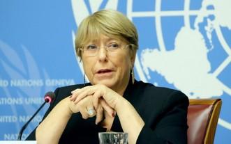 聯合國人權事務高級專員巴切萊特。(圖源:聯合國)