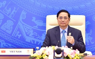 政府總理范明政出席第三十八屆東盟峰會並發表重要講話。(圖源:VGP)