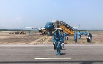 運送滯留國外的越南公民返鄉的航班。