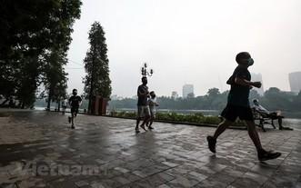 河內首都居民進行鍛煉身體。(圖源:互聯網)