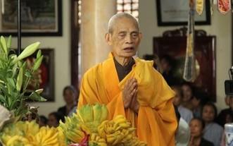 越南佛教協會法主、證明理事會法主釋普惠長老。