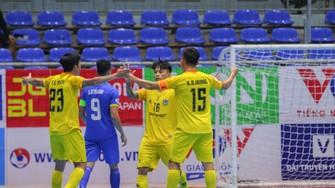 Sahako là đội bóng vô địch lượt đi Giải futsal HD Bank VĐQG 2021. Ảnh: KHẮC ĐIỀN