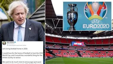 """Thủ tướng Anh, Boris Johnson tin đây là """"thời điểm thích hợp"""" để """"đưa bóng đá trở về nhà""""."""