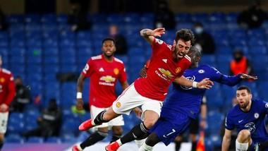 Bruno Fernandes một lần nữa mờ nhạt trong trận hòa Chelsea. Ảnh: Getty Images