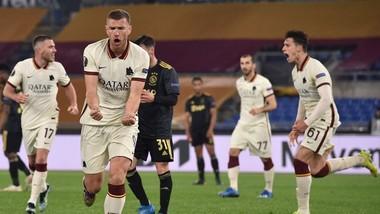 AS Roma với Edin Dzeko sát thủ hy vọng sẽ phục thù Man.United. Ảnh: Getty Images