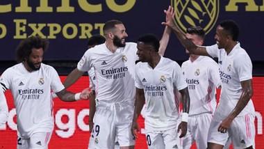 Karim Benzema tiếp tục truyền cảm hứng chiến thắng cho Real. Ảnh: Getty Images