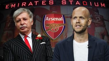 Tỷ phú Daniel Ek (phải) chỉ còn chờ cái gật đầu chấp nhận đàm phán của Stan Kroenke.