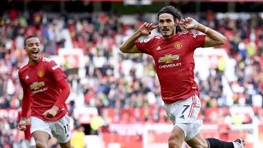 Edinson Cavani ghi bàn nhưng Man.United vẫn bị Fulham cầm hòa. Ảnh: Getty Images