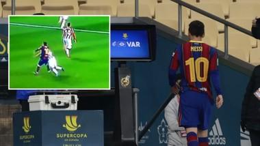 Messi lãnh thẻ đỏ đầu tiên ở Barcelona