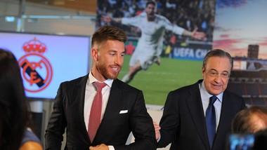 Sergio Ramos và Chủ tịch Florentino Perez