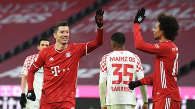 Lượt đi, Bayern đã thắng Mainz đến 5-2 trên sân nhà