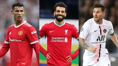 Cristiano Ronaldo , Mohamed Salah và Lionel Messi