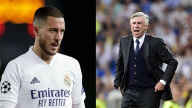 Eden Hazard không còn được Ancelotti ưu ái