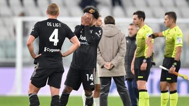 Các cầu thủ Juve thất vọng khi thua Sassuolo
