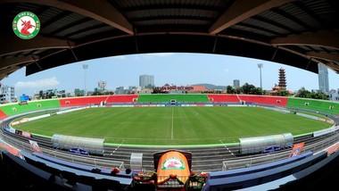 Sân Quy Nhơn vừa được chỉnh trang sẵn sàng đón đội tuyển