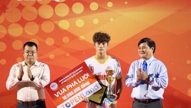 Tiền đạo Nguyễn Quốc Việt, vua phá lưới tại VCK U19 quốc gia 2021