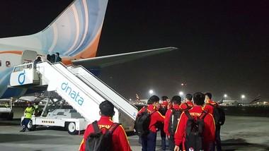 Đội U22 Việt Nam đến Kyrgyzstan vào rạng sáng ngày 21-10